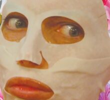 Alyssa Edwards Beauty Mask With Flowers - Rupaul's Drag Race All Stars 2  Sticker