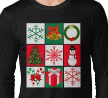 Ugly Christmas Sweater T-Shirt, Tee featuring whimsical holiday graphics Long Sleeve T-Shirt