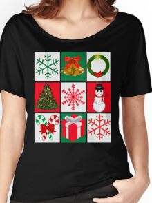 Ugly Christmas Sweater T-Shirt, Tee featuring whimsical holiday graphics Women's Relaxed Fit T-Shirt
