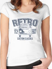 NEW Men's Classic Camper Van T-shirt Women's Fitted Scoop T-Shirt