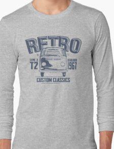 NEW Men's Classic Camper Van T-shirt Long Sleeve T-Shirt
