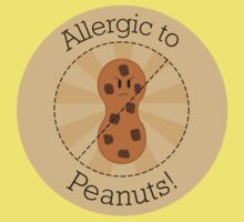 Allergic to Peanuts Kids Tee