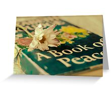 Book of Peace Greeting Card