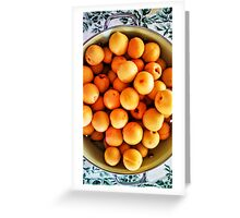 Apricots - Green Colander Greeting Card