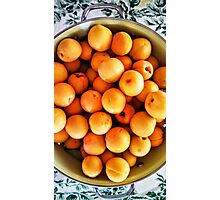 Apricots - Green Colander Photographic Print