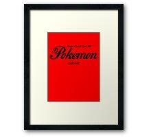 Pokemon Classic in Black Framed Print