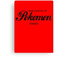 Pokemon Classic in Black Canvas Print
