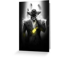Twisted Fate - League of Legends Greeting Card