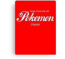 Pokemon Classic in White Canvas Print