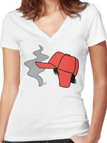 Catcher In the Rye Holden Caulfield Women's Fitted V-Neck T-Shirt