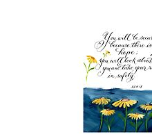 There is hope handwritten inspirational verse by Melissa Goza