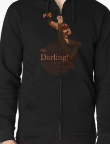 Darling (orange ver.) Zipped Hoodie
