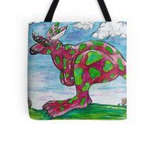 Prue the Pink Kangaroo Tote Bag