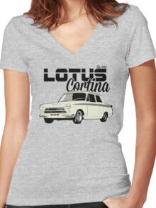 NEW Men's Vintage Classic Car T-shirt Women's Fitted V-Neck T-Shirt