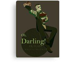 Darling (Green ver.) Canvas Print