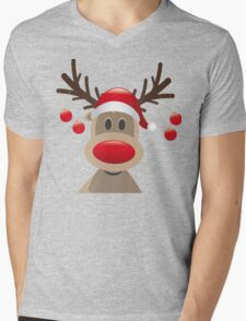 Reindeer Coming- Reindeer Christmas Sweater Mens V-Neck T-Shirt