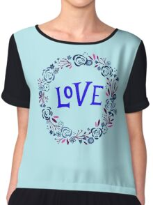 Love Wreath  Chiffon Top