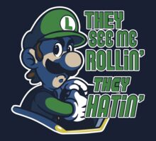 Luigi MK8 - Ridin' Dirty One Piece - Short Sleeve