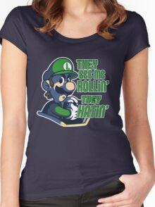Luigi MK8 - Ridin' Dirty Women's Fitted Scoop T-Shirt