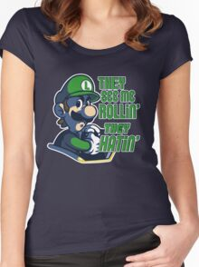 Luigi MK8 - Ridin' Dirty Women's Fitted Scoop T-Shirt