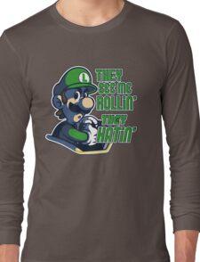 Luigi MK8 - Ridin' Dirty Long Sleeve T-Shirt