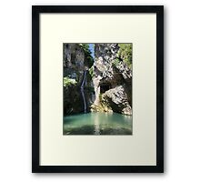 Mountain river and little waterfall Framed Print