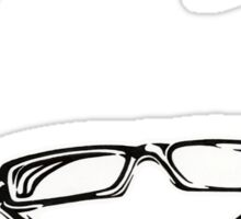Geek Chic Glasses Sticker