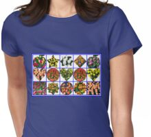 Just  For Fun - Crazy Tulips Collage Womens Fitted T-Shirt