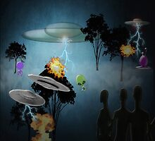 Aliens Attack Earth by Ann  Warrenton