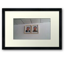 Portraits of the North Korean Leaders Framed Print
