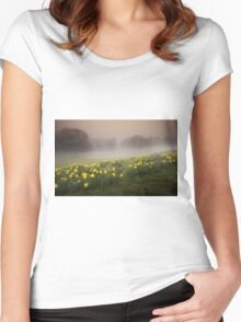 Welsh Misty Daffodils Women's Fitted Scoop T-Shirt