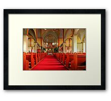 Cathedral of the Prairies - Internal View Framed Print