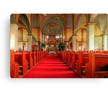 Cathedral of the Prairies - Internal View Canvas Print
