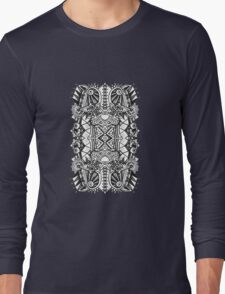 SYMMETRY - Design 009 (B/W) Long Sleeve T-Shirt