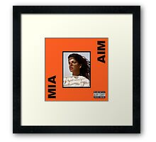 M.I.A. - AIM Album  Framed Print