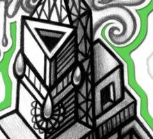 ABSTRACT - Design 010 (B/W) Sticker