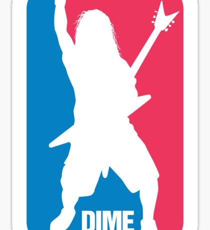 DIME: Dimebag Darrell Sport Logo Sticker