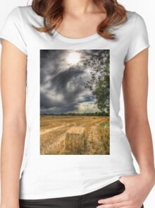 Storm on the Farm Women's Fitted Scoop T-Shirt