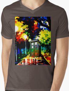 tardis starry night Mens V-Neck T-Shirt