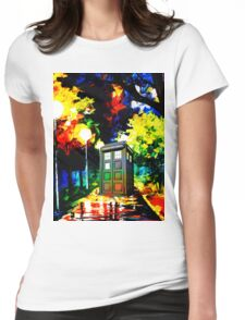 tardis starry night Womens Fitted T-Shirt