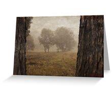 Winding Dirt Road through the Pinnacle Greeting Card
