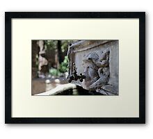 drops of water from the drinking fountain Framed Print