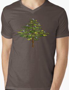 Heron Tree Mens V-Neck T-Shirt