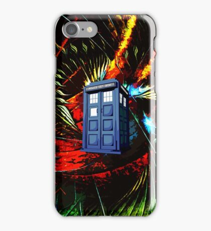 tardis in the mix of art iPhone Case/Skin
