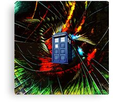 tardis in the mix of art Canvas Print