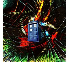 tardis in the mix of art Photographic Print