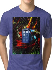 tardis in the mix of art Tri-blend T-Shirt