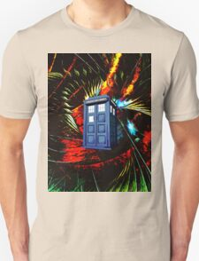 tardis in the mix of art Unisex T-Shirt
