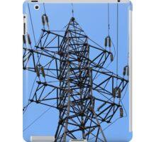 electricity pylon power line iPad Case/Skin