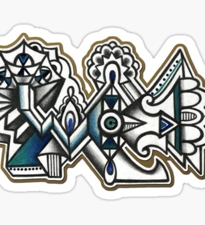 Abstract Dimensions (Color) Design 011 Sticker